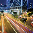 Rush Hour Hong Kong Cityscape at Night - Stock Photo