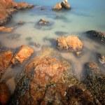 Rock in coast line — Stock Photo