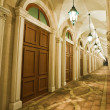 Corridor, italian building style — Stock Photo