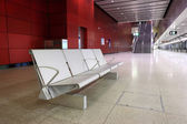 Seat in train station — Stock Photo