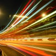 Highway light trails — Stock Photo
