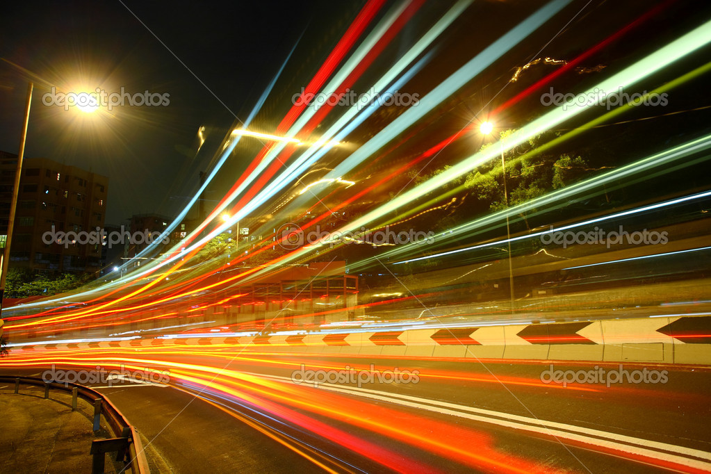 Highway light trails — Stock Photo #3078593