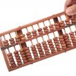 Abacus hold by hand — Stock Photo
