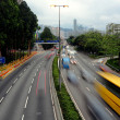 Speed evening traffic motion blur - Stock Photo
