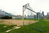 Celem w dziedzinie piłki nożnej — Zdjęcie stockowe
