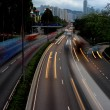 Traffic motion blur — Stock Photo
