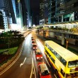 Taxi and bus in Hong Kong — Stock Photo