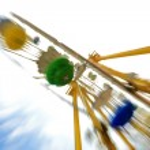 Fun theme park abstract motion blur — Stock Photo