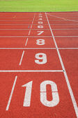 Finish point on sport field — Stock Photo