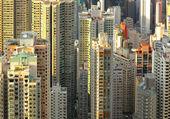 香港的许多建筑 — 图库照片