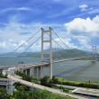 Stock Photo: Tsing mbridge in Hong Kong