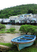 Tai O fishing village with stilt house in Hong Kong — Stock Photo