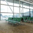 Bench in waiting hall in airport — Stock Photo