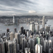 Stock Photo: Hong Kong city in low saturation