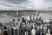 Hong Kong city in low saturation — Stock Photo