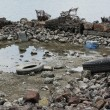 Garbage on coast - Foto Stock