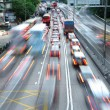 Stock Photo: Speed evening traffic motion blur