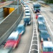 Traffic with motion blur — Stock Photo