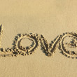 Love on sand — Stockfoto