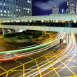 Busy traffic motion blur — Stock Photo