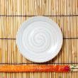 Royalty-Free Stock Photo: Plate and chopsticks