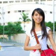 College student at campus - Foto Stock