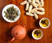 Chinese tea with peanut — Stock Photo