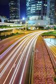 Desenfoque de movimiento intenso tráfico — Foto de Stock