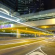 City traffic blur at night — Stock Photo