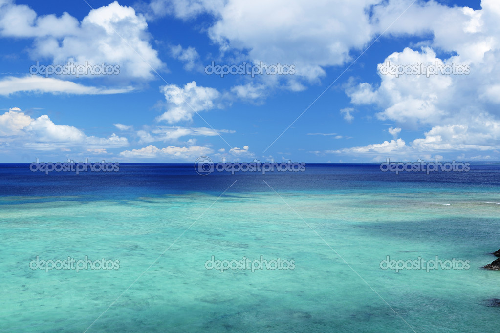 Beautiful sea stock image