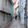 Narrow street in Riga - Stock Photo