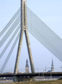 The Panorama of Riga, — Stock Photo