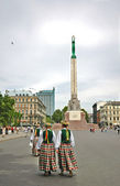 Monument to freedom in Riga — Stock Photo