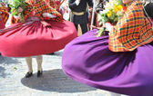 The Latvian national dances — Stock Photo