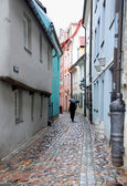 Narrow street in Riga — Stock Photo