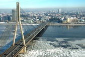 The bridge in Riga — Stock Photo