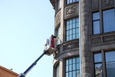 Cleaning of windows — Stock Photo