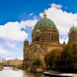 Dome in Berlin from the riverside - Stock Photo