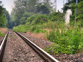 Old harbour railway section — Stock Photo
