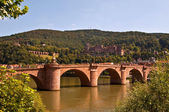 Old bridge feat. Heidelberg castle — Stock Photo