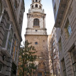 Brides church- Fleet street — Stock Photo