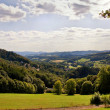 Odenwald view in Lindenfels - Stock Photo