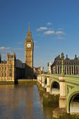Big ben and westminster bridge — Foto de Stock