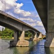 Foto Stock: Under bridge