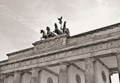 Brandenburg gate black and white — Stock Photo