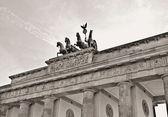 Brandenburg gate black and white — Stock Photo