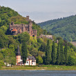 Reichenstein castle in famous rhine vall - Stock Photo