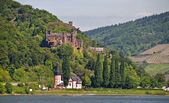 Reichenstein castle in famous rhine vall — Stock Photo