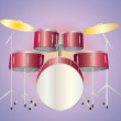 Stock Photo: Drumset red