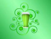 St Patricks day pint — Stock Vector